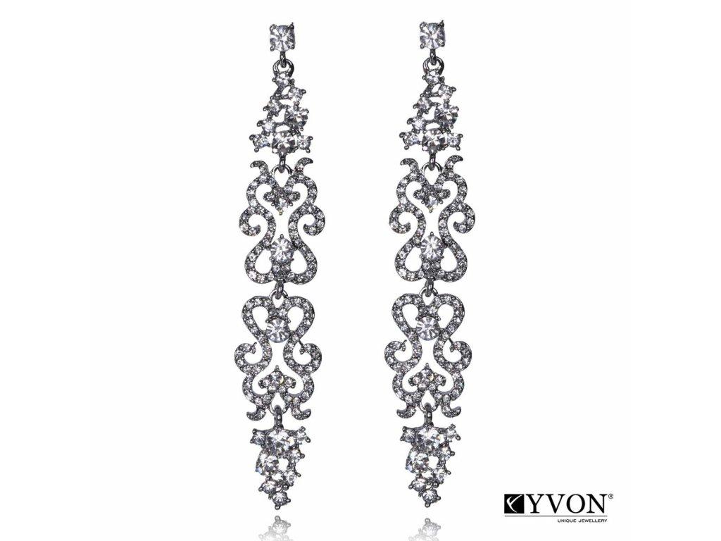 3445 luxusne visiace nausnice s brusenymi krystalmi