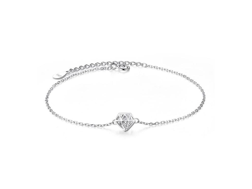 3601 strieborny 925 naramok s diamantom