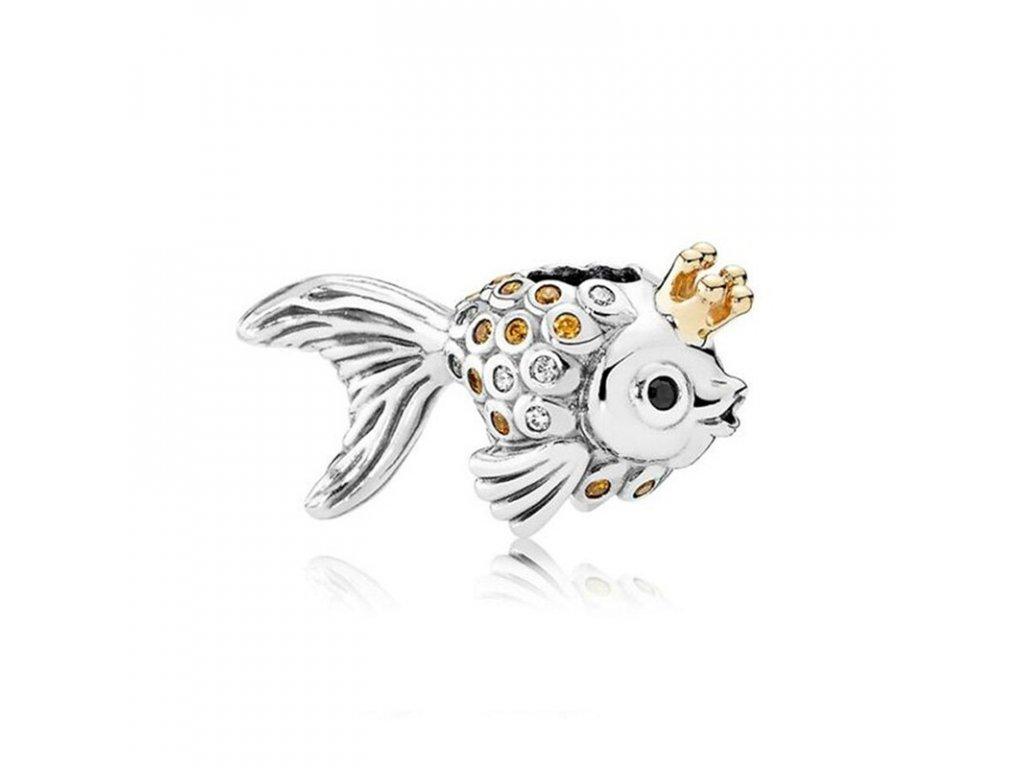 3940 strieborna 925 koralka styl pandora rozpravkova rybka