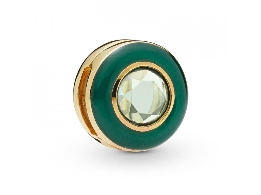 4024 strieborna 925 koralka styl pandora reflections zelena elegancia