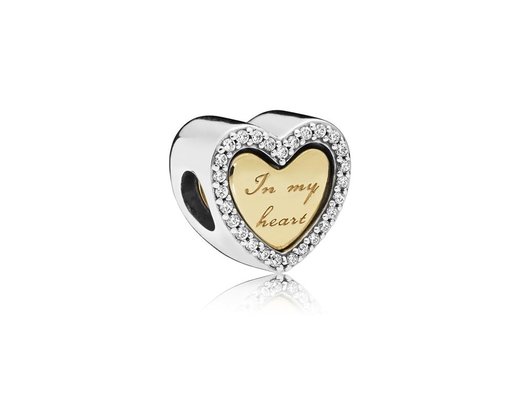 4228 strieborna 925 koralka styl pandora srdce in my heart