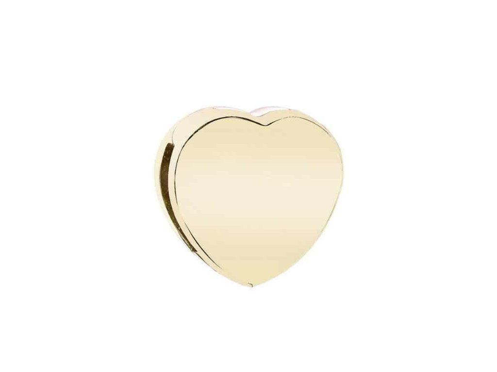 4327 strieborna 925 koralka styl pandora reflections zlate srdce