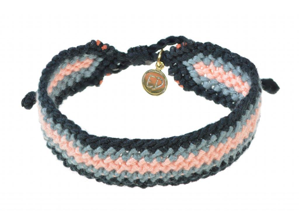Pánsky pletený náramok - koralový