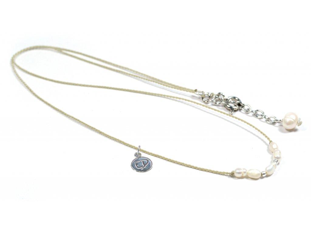 Dámsky perlový náhrdelník - smotanový