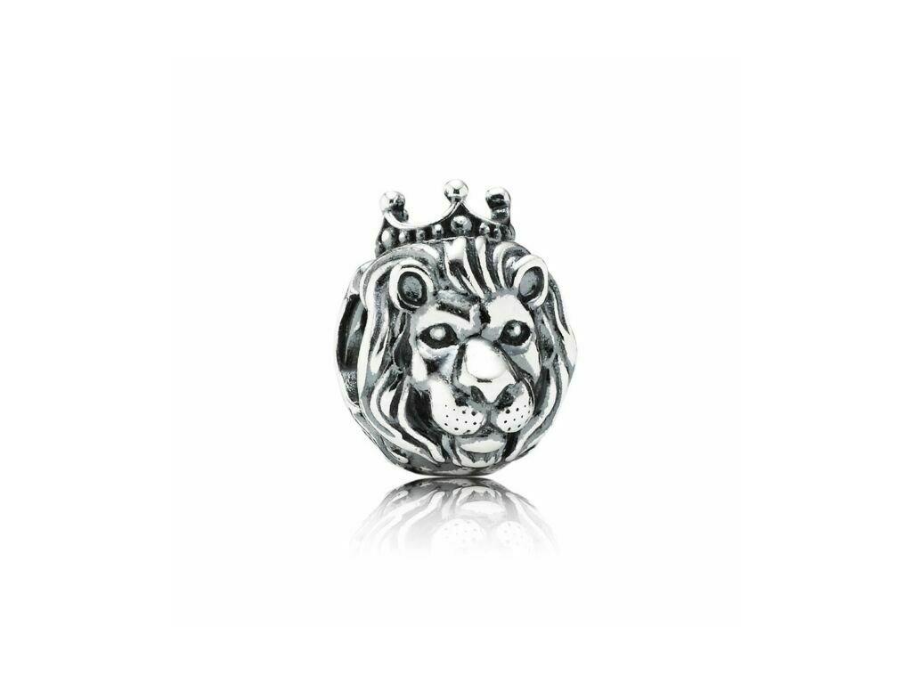 6277 1 strieborna koralka styl pandora kral lev