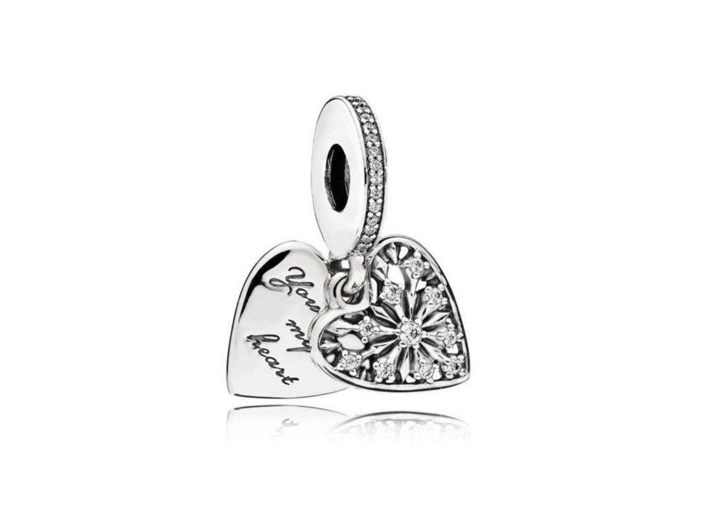 6493 1 strieborna koralka privesok styl pandora roztapas moje srdce