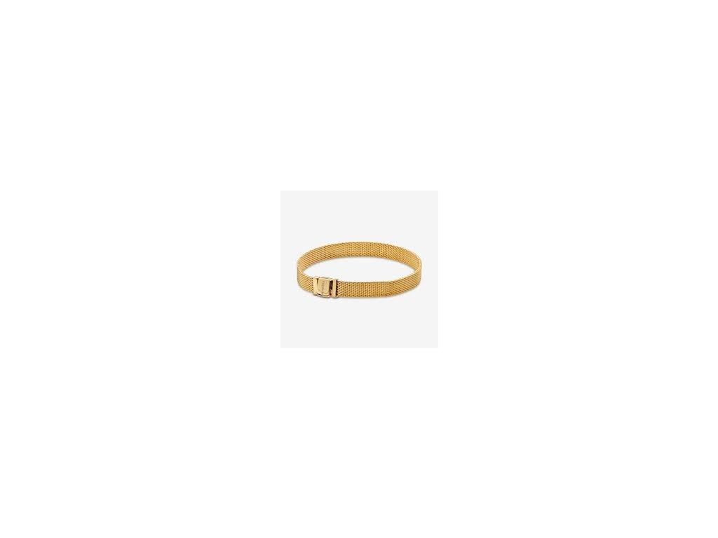 Strieborný 925 náramok štýl Pandora Reflections Zlatý (Dĺžka 19 cm)