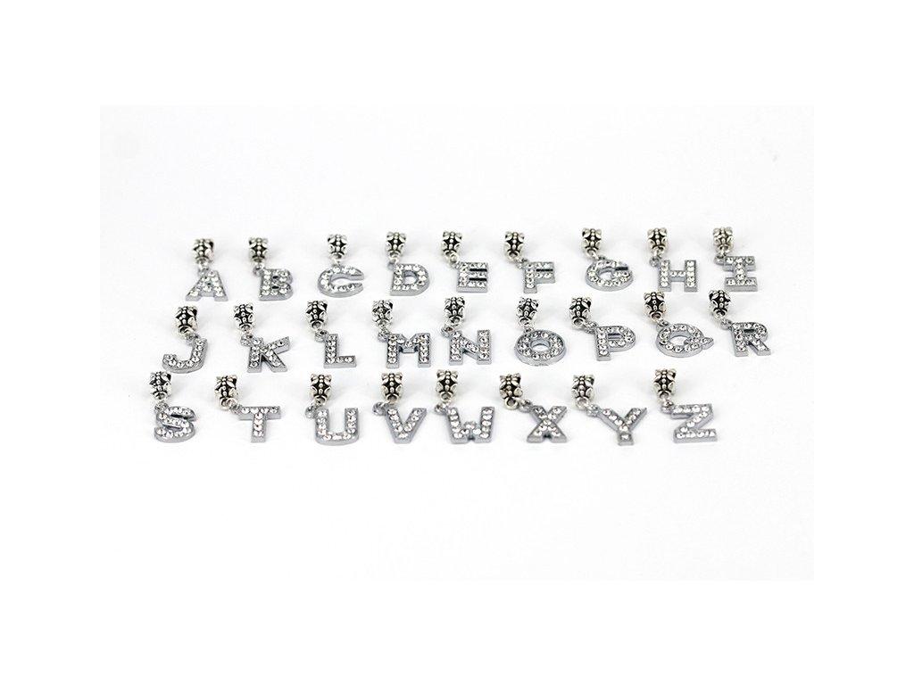 859 koralka styl pandora pismena s kamienkami moznost vyberu