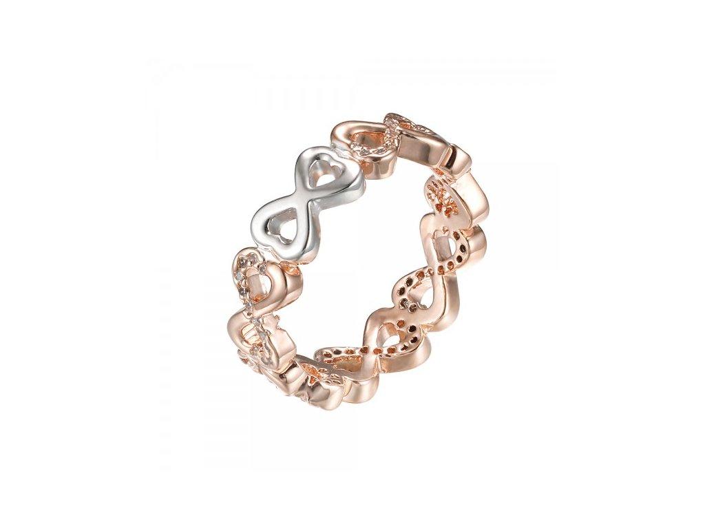 997 ruzovo zlaty prsten s motivom nekonecnej lasky