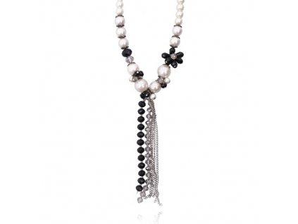 1456 extravagantny perlovy nahrdelnik