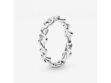 3307 damsky strieborny 925 prsten prepletene srdcia