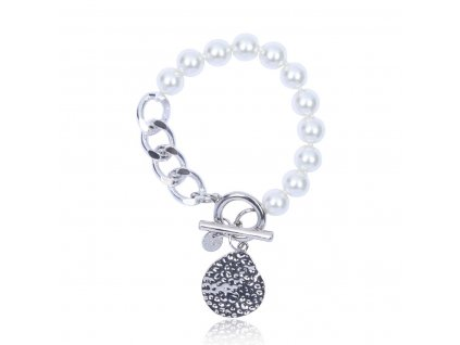 4654 perlovo retiazkovy naramok s priveskom yvon