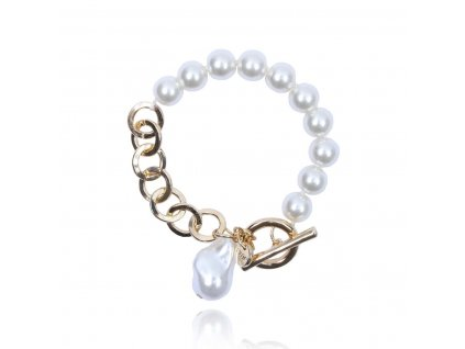 4657 perlovo retiazkovy naramok s priveskom perla
