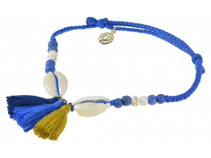 5209 damsky pleteny naramok s muslami a strapcami ultramarine