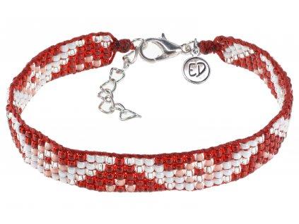 5296 damsky naramok z japonskeho rokajlu so zapinanim cerveno biely
