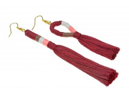 5377 damske strapcove handmade nausnice cervene