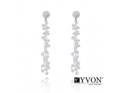 6403 2 damske krystalove svadobne nausnice priesvitne krystaly