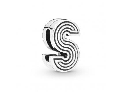 6526 1 strieborna koralka styl pandora reflexions pismeno s