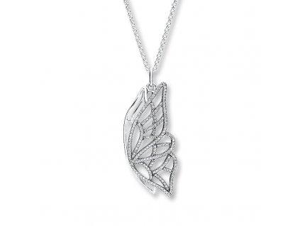 Strieborný prívesok štýl Pandora motýlie krídla