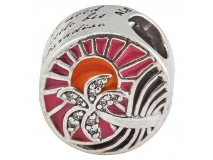 8365 strieborna koralka styl pandora tropicky zapad slnka