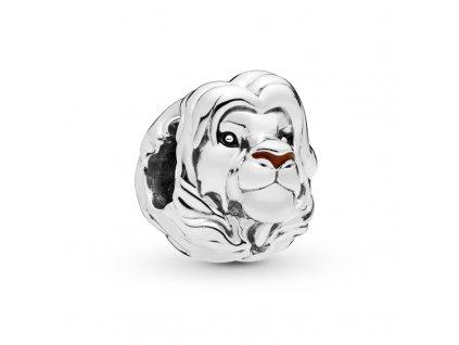 8392 strieborna koralka styl pandora lev simba