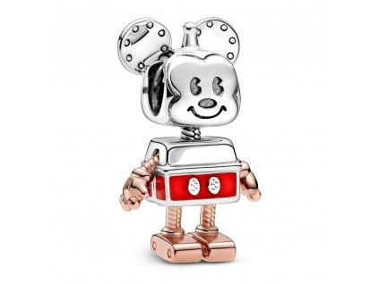 Strieborná korálka štýl Pandora robotický Mickey