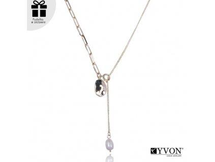 Dámsky náhrdelník štýl GLAMOUR s visiacou perlou