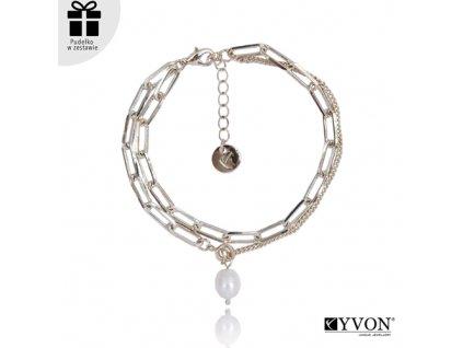 Dámsky náhrdelník štýl GLAMOUR s visiacoubperlou