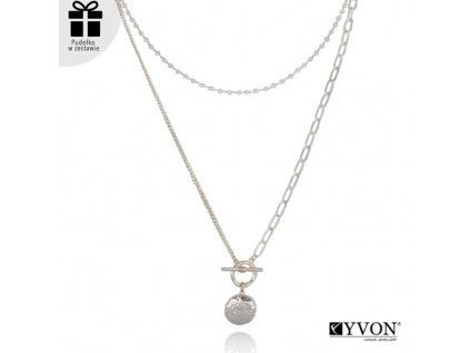 Dámsky náhrdelník štýl GLAMOUR dvojitý s kruhom