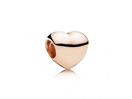 Strieborná korálka štýl Pandora ružovo zlaté srdiečko
