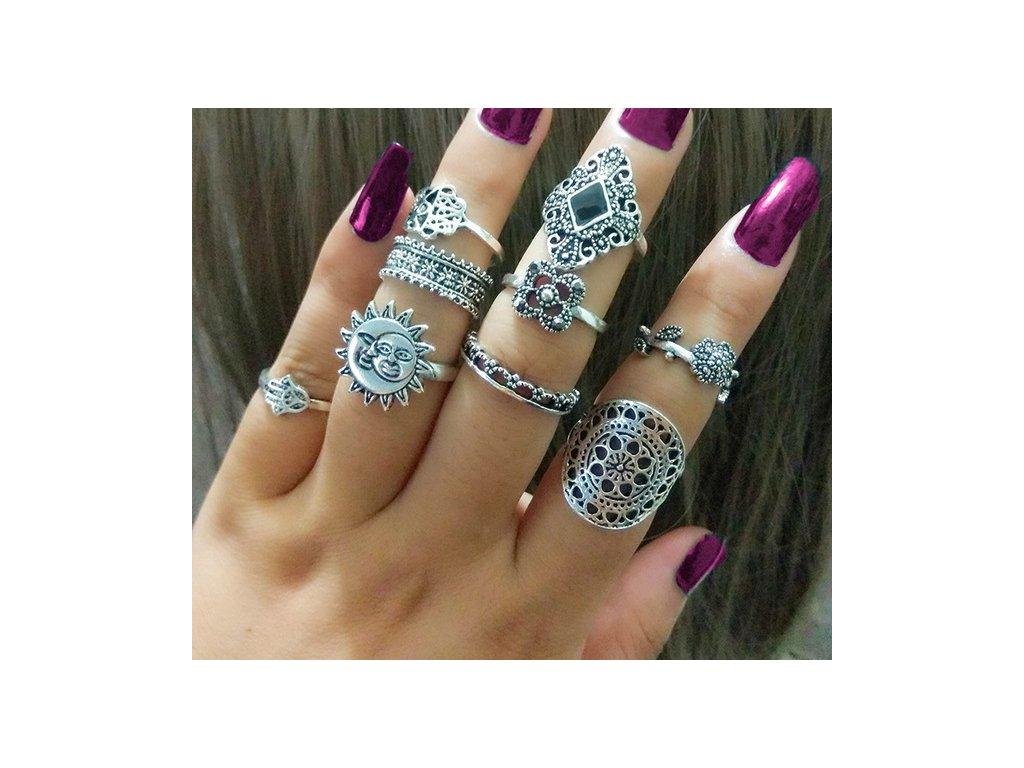prsteny v boho stylu