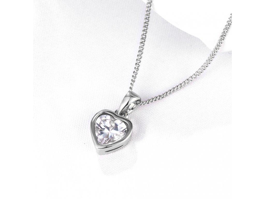 2144835f5 Dámský náhrdelník SRDCE KRYSTAL - pozlacený - Bižuterie TOP CZ