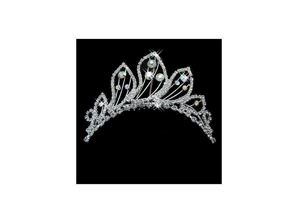 570b5f1f058 Svatební hřeben do vlasů s AB KAMÍNKY - stříbrná - Bižuterie TOP CZ