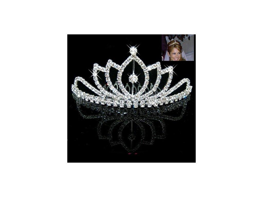 3693675c555 Svatební hřeben do vlasů KORUNKA - stříbrná - Bižuterie TOP CZ