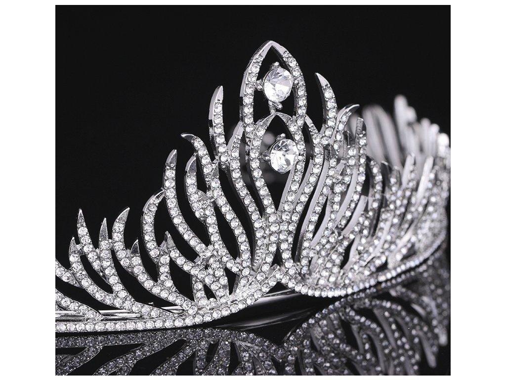 Luxusní svatební korunka SHINY - postříbřená - Bižuterie TOP CZ 71702b7936