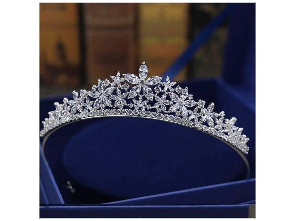 Luxusní svatební korunka BRIDAL QUEEN - Bižuterie TOP CZ 5579813a97
