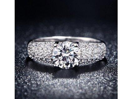Luxusní prsten DIAMANTE - postříbřený (Velikost prstenu 59,5mm)