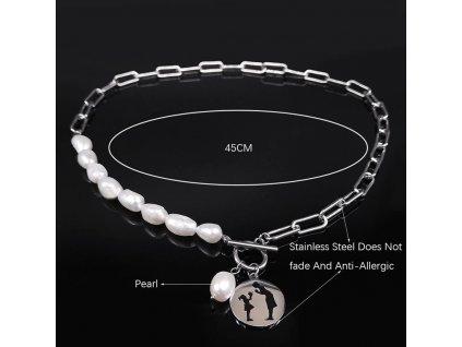 Dámský náhrdelník z nerezové oceli MÁMA A DÍTĚ
