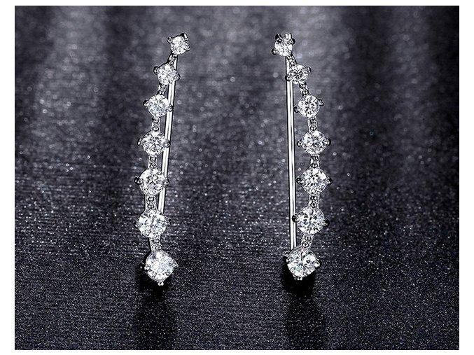 náušnice crystal