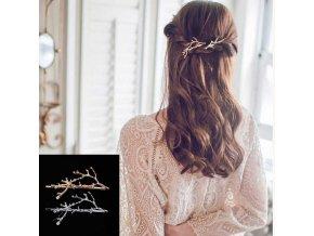 Sada sponek do vlasů ve tvaru MOTÝL - modrá - Bižuterie TOP CZ 3ff90711ab