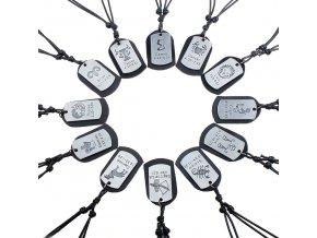 Pánský náhrdelník ve znamení zvěrokruhu (znamení Vodnář (21.1.- 20.2.)        )