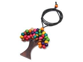 Dámský dlouhý BOHO náhrdelník STROM (Druh barvy Barevná)