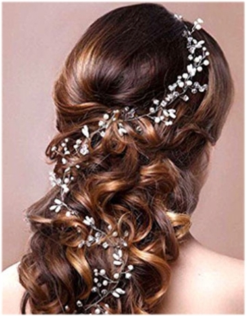 B-TOP Svatební ozdoba do vlasů S PERLAMI A KAMÍNKY - bílá stříbrná 26082c0f3e