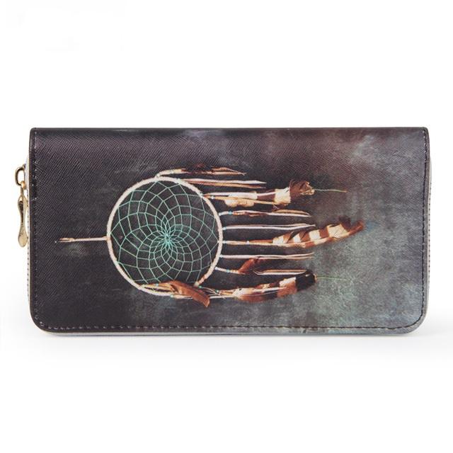 B-TOP Dámská peněženka s motivem LAPAČ SNŮ - barevná