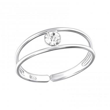 All4Silver Prsten na nohu DVA KAMENY - stříbro 925