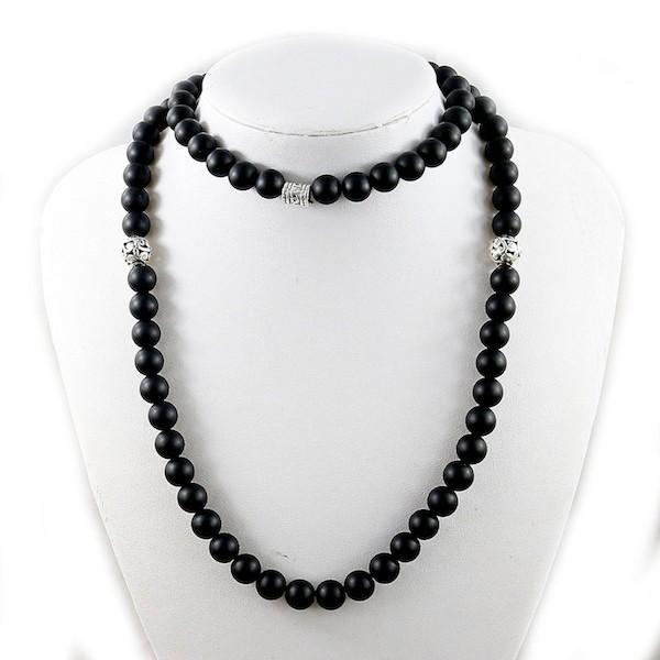 B-TOP Pánský módní náhrdelník MALA - černý