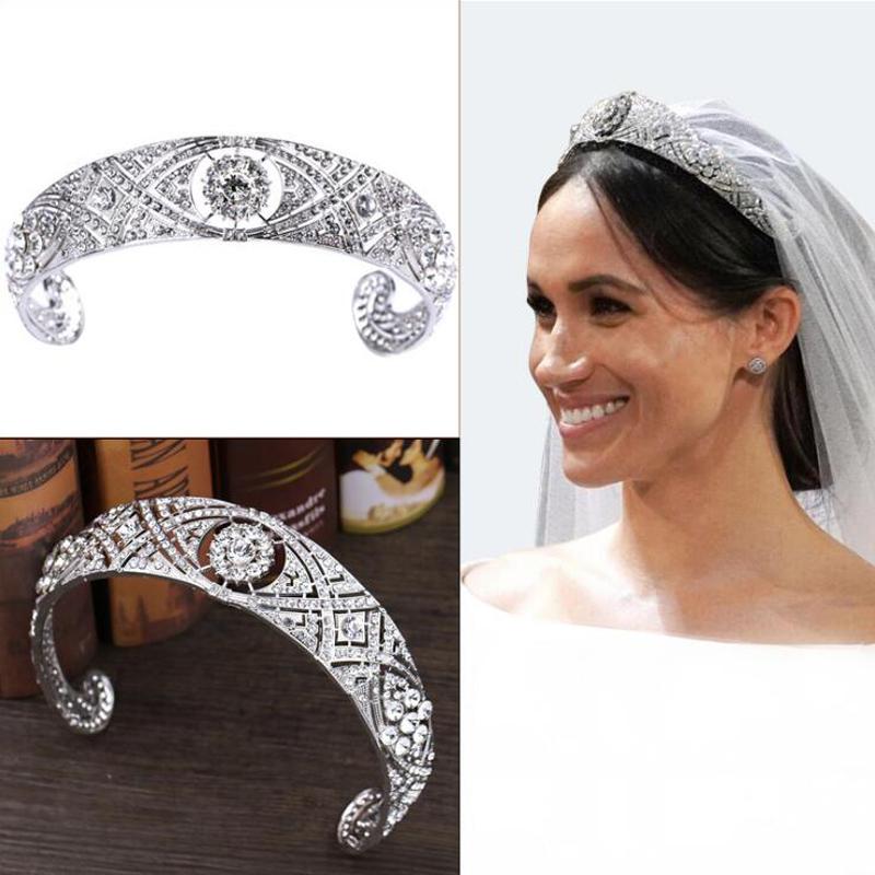 0eec8be52fc B-TOP Luxusní svatební korunka do vlasů Royal Tiara- stříbrná