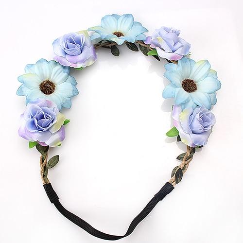 07cdbdd1620 B-TOP Květinová čelenka do vlasů - modrá