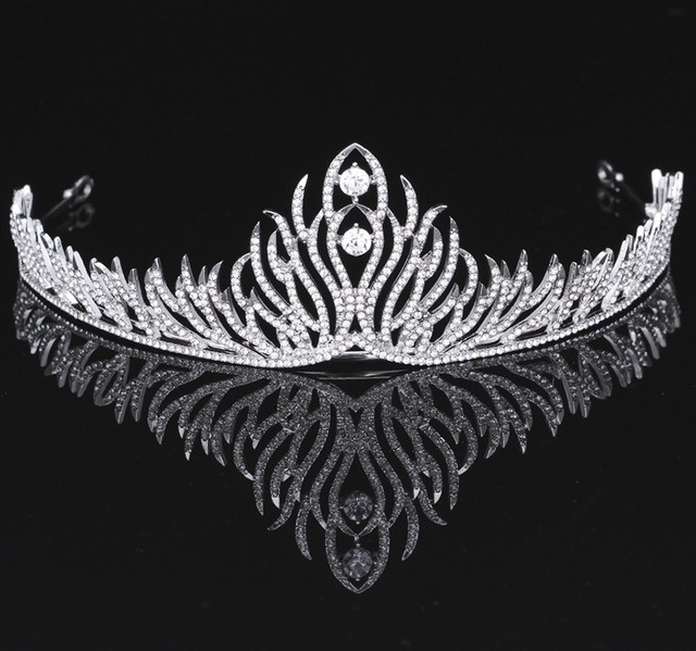 B-TOP Luxusní svatební korunka - tiara SHINY 62438