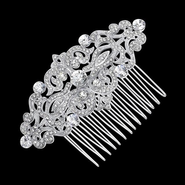 B-TOP Svatební hřeben do vlasů VINTAGE FLORAL - postříbřený e935a2c871